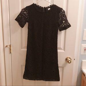 Lacy black cocktail dress